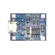 Контроллер заряда Li-ion аккумулятора 03962A Вход 5V/DC/Micro Usb - выход 3,7V-4,2V 1A without protection